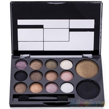 14 Colors Makeup Shimmer Eyeshadow Palette Cosmetic Neutral Nude Warm Eye Shadow  6ZI6 7GRU