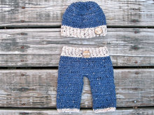 Free shipping crochet baby boy pants and hat set 0 - 3 months Newborn Crochet Photography Prop
