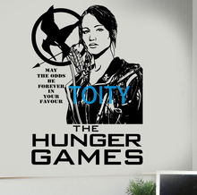 Hunger Games Wall Sticker Katniss Vinyl Decal The MockingJay Poster Movie Game Decor Art Mural H 83cm x W 58cm(China)