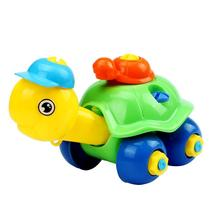 Modern Plastic Turtle Car Design Christmas Gift Disassembly Educational toys for children 16*10*10 Kids Game Toys wholesale