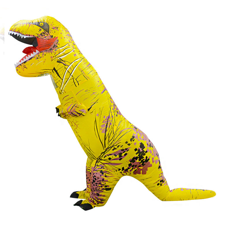 Inflatable t rex Costume Halloween Jumpsuit Yellow Christmas Party Dress Russia Holiday Inflatable costumes for Adult