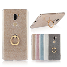 Bling Glitter Ring Holder Stand Soft TPU Cell Phone Cover Funda Capa for Xiaomi Mi5s Plus Case Accessories(China)