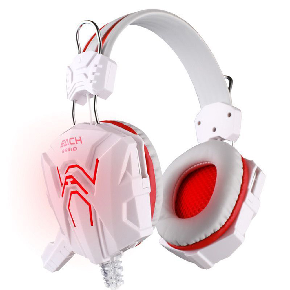 KOTION EACH GS310 3.5mm Gaming Headphone White+Blue Headset+Mic For FPS LOL  For PS4 Laptop Blue LED Earcup<br><br>Aliexpress