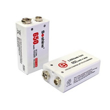 Soshine 2pc 650mAh 9V 6F22 Li-ion Lithium Rechargeable Battery for Electronic Smoke Guitar(China)