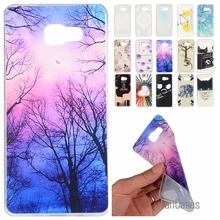 Cartoon Lemon Bike Tree painted Rubber Back Cover Silicon Gel Soft TPU mobile phone case For Samsung Galaxy A5 2016 A510 A510F