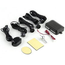 Black Universal Waterproof 12V 4 Parking Sensors Car Auto Reverse Backup Rear Radar System Kit Sound Alert Alarm Indicator(China)