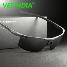 VEITHDIA HD Men Brand Designer Driving Polarized Sunglasses Glasses Goggles Aluminum Magnesium oculos de sol Accessories 6588