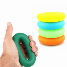 New health Sliming Hand Grips Muscle Power Training Green Rubber Ring Exerciser Finger Hand Grip Easy Carry Hand Gripper