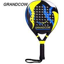 GRANDCOW Tennis Padel Paddle Pro Carbon Fiber Power Pro-Lite EVA Foam Pop Beach Paddleball  Racquet