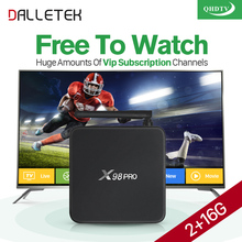 Dalletektv S912 Smart Android 6.0 TV Set Top Box 2G STB with HD iptv Europe Abaric IPTV Subscription 1 Year QHDTV Account M3U(China)