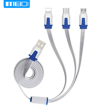 (3 in 1 Mobile Phone Cable)MEIDI USB Cable For iPhone8X 7 6 6s 5 se Charger Type C Micro USB Cable For Android amsung S5 S6 S7(China)