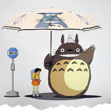Ultraviolet Sun Proof Sun Umbrella Anime My Parapluie Totoro Cute Daily Folding Umbrella Cosplay Collection Children's Umbrellas(China)