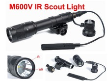 New Tactical M600V IR Scout Light Hunting Night Evolution LED Flashlight  Waterproof Weapon Light With with Tape Switch