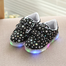 Buy 2017 LED lighted stars glowing sneakers baby cool breathable Cute boys girls shoes casual classic hot sales kids children shoes for $9.99 in AliExpress store