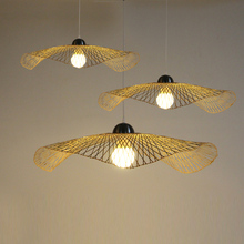 bamboo pendant lights clothing shop barber shop NEW single head shape lighting Modern Chinese Restaurant Bar Club Hotel ZCL(China)