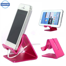 Universal Aluminum Alloy Metal Phone Desktop Stand Mount Holder Stander Cradle For iPhone 6s plus ipad Tablet PC Samsung S16