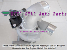 Free Ship Turbo TF035HM 28200-4X650 49135-04360 49135 04360 For Hyundai Passenger Car For KIA Bongo III Truck J3 Crdi 2.9L Oil