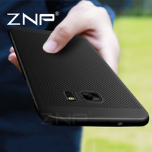 ZNP Hard Back Protect Shell Case For Samsung Galaxy S7 Edge S8 Plus Cases Full Cover For Samsung S8 Heat dissipation Phone Case(China)