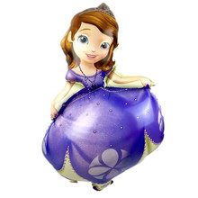 Large Sofia Princess Foil Balloons Happy Birthday Helium Balloon 3 Size Princess Round Sofia Party Decoration Inflatable Ball(China)