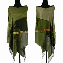 Free Shipping!!! Best-Seller Elegant Lady's Lily Flower 100% Pashmina Shawl Wraps Scarf