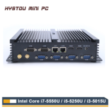 HYSTOU Fanless Industrial Mini PC Win10 Intel Core i7 5550U 2*Intel Gigabit Lan 6*RS232 Rugged Computer Linux 3G Wifi 2*HDMI(China)