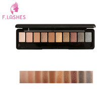 F.Lashes 2018 Earthy Matte Pearly Warm Smokey 10 Colors Eyeshadow Palette Glamorous Eye Shadow Shimmer Colors Makeup Kit(China)