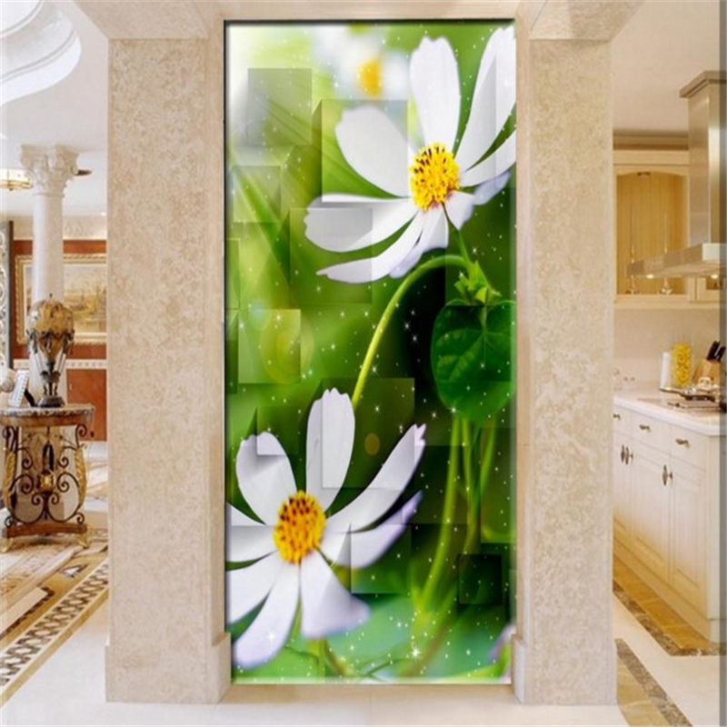 Customized wallpaper three - dimensional box fresh flowers 3D entrance background home decoration wall papers home decor<br><br>Aliexpress