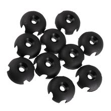 10pcs Durable Secure Deck Line Guide Round Outfitting for Inflatable Fishing Boat Canoe Kayak Dinghy Yatch Accessories Black(China)