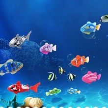 Aquarium Fishing Tank Decorating Home Plastic Material Funny Swim Electronic Robot Fish Activated Battery Powered(China)