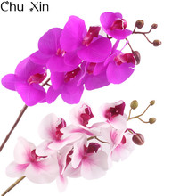 Phalaenopsis Orchid  Real Touch Flower White Artificial Silk Flower Wedding decoration Orchid Floral Christmas Party