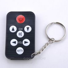 2015 New Free Shipping Mini Universal Infrared IR TV Set Remote Control Keychain Key Ring 7 Keys