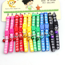 6 color  pattern pet leashes necklace scalable traction belt dog collar chain collar small bell reflective