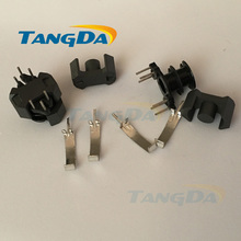 Tangda RM RM4 core Bobbin 3+3 pin 6p magnetic core+skeleton PC40 soft ferrite cores Transformers vertical double-groove 2 groove(China)