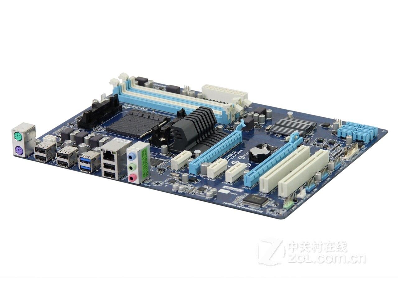 Интернет магазин товары для всей семьи HTB1v7m_XODxK1Rjy1zcq6yGeXXai Разъем AM3 + для AMD 970 гигабайт GA-970A-DS3 100% Оригинал материнская плата DDR3 DIMM USB3.0 32G гигабайт 970A-DS3 Desktop SATA III