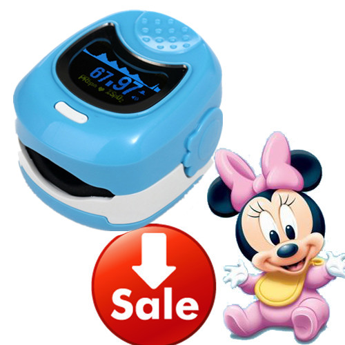 OLED Display Pediatric Kids Oximeter Fingertip Blood Pressure Monitor Finger Pulse Oximeter Blood Oxygen SpO2 Monitor Oximeters<br>