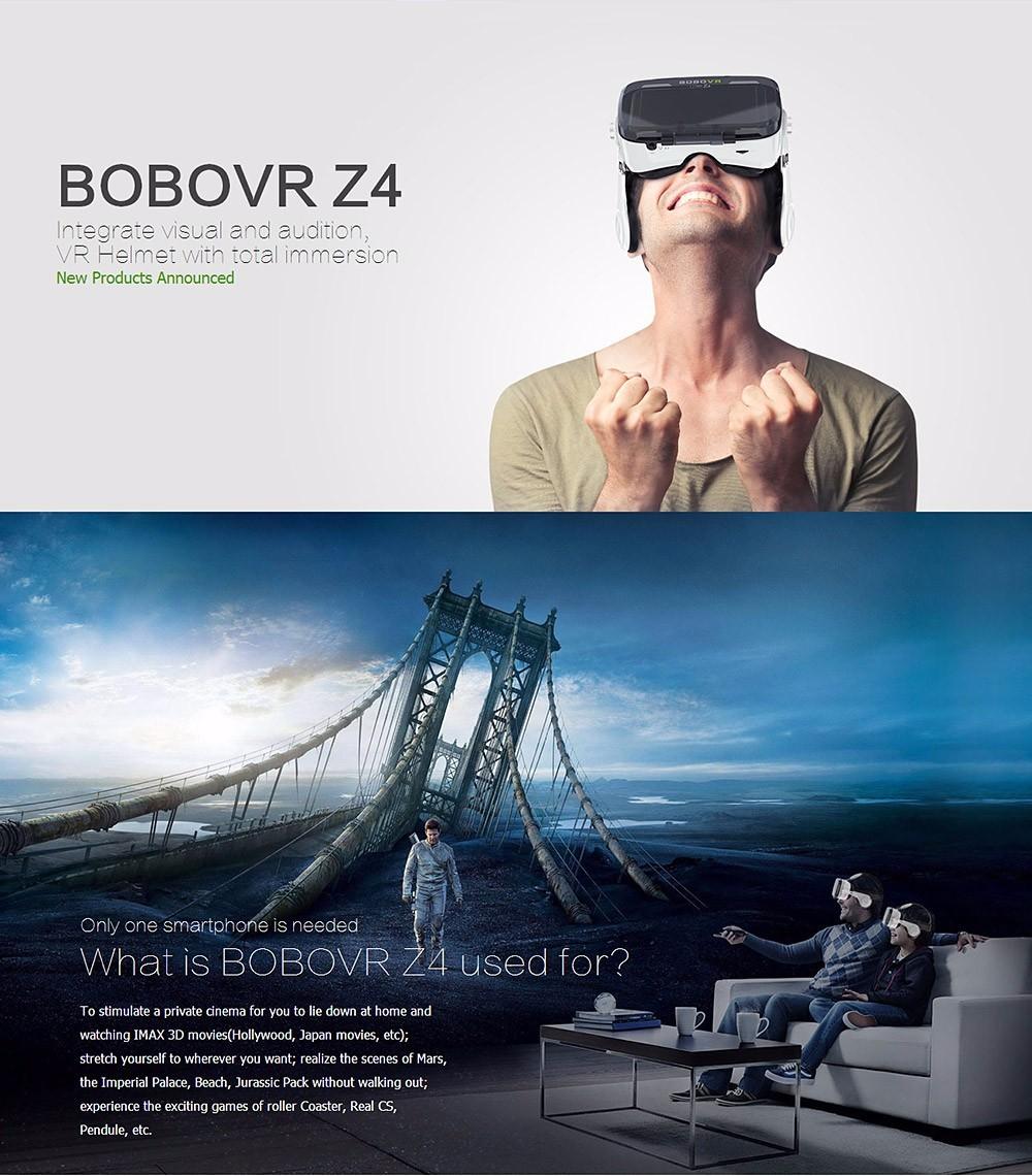 Virtual Reality Google Cardboard VR BOX Original bobovr Z4/ Z4 Mini 3D glasses+Bluetooth Controller for 4-6' Smart Mobile Phone 11