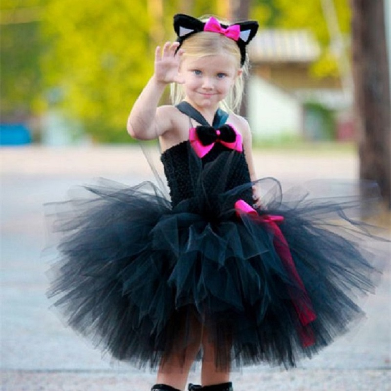 a9921f55ee Detail Feedback Questions about Cute Cat Tutu Set Girls Minnie Dress ...