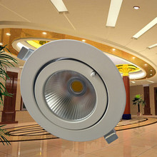 Wholesale 30W COB LED Trunk Downlight COB Ceiling Lamp AC85-265V Adjustable recessed Super Bright Indoor Light cob led downlight(China)