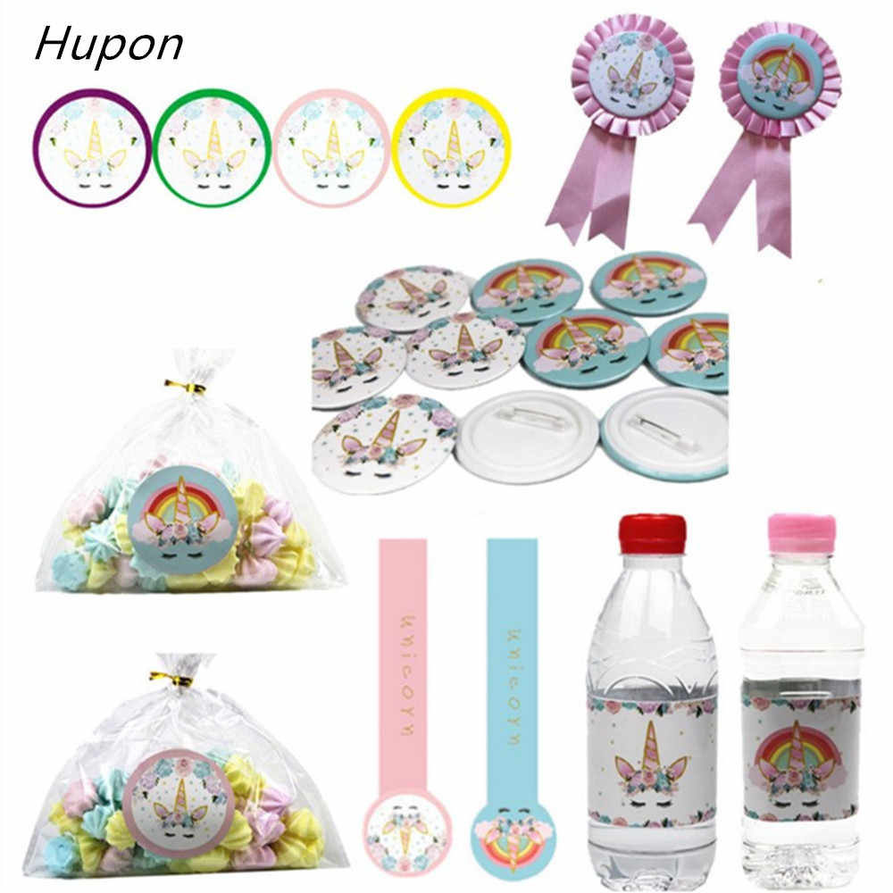 Detail Feedback Questions About 24pcs Unicorn Bottle Sticker Party Decoration Gift Stickers Labels Birthday Cake Decorations Baby Shower