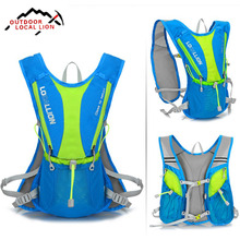 LOCAL LION Cycling Bag Backpack Bicycle Climbing Running Bike Shoulder Backpack Sport Hiking Water Bladder Bag Bike Bag 5L