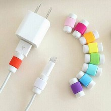 Wholesale 500pcs/lot Unique Design Colorful Saver Cover For iPhone Charging Cable Protector Saver / Protective sleeves winder