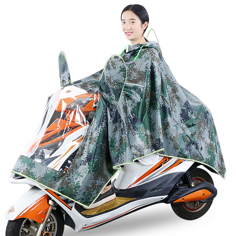 Motorcycle Raincoat Men Women Waterproof Hooded Capa De Chuva Para Motoqueiro Raincoat Impermeable Rain Poncho Cloak QQG251