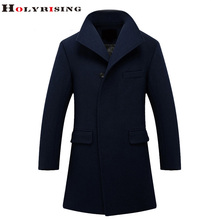 Men Wool Coats Long Warm Jackets Stand Collar  Hot Explosion Autumn Winter Mens Cashmere Coat Slim Overcoat Men Navy Kahki S-3XL
