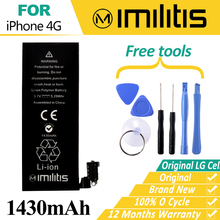 Imilitis Original Battery for Apple iPhone 4 4G Replacement Batteries 0 Cycle Real Capacity 1420mAh Bateria for iPhone 4 Battery