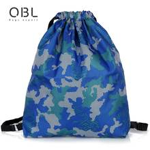 Women Nylon Drawstring Backpack Beam Port Camouflage Mochilla  Grocery Shopping Bags Folding Shopping Cart Eco Grab Bag WB24