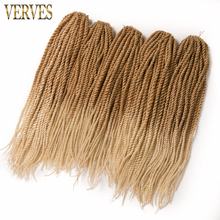 10 piece 30 Strands/set Crotchet Braids synthetic Ombre Braiding Hair 18'' Crochet Braids Hair Extensions Senegalese Twist Hair(China)
