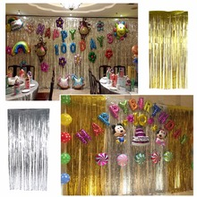 3M/2M Metallic Foil Curtain Wedding Decor Backdrop Curtain For Christmas Halloween Birthday Party Decorations Kids Supplies