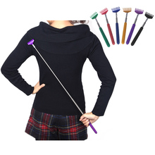 Wholesale Extendale Telescoping / Telescopic Metal Back Scratcher with Soft Cushion Grip Head & Handle Retractable Purple