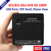 4/8 Channel Super Mini NVR CCTV IP Camera Network Video Recorder Surveillance 4Ch 8Ch NVR 1080P/960P/720P Cloud P2P ONVIF E-SATA