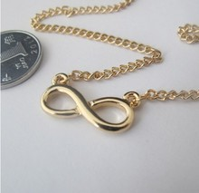 Timlee N012 Free shipping,New Vintage digital 8 Infinity infinite short necklace,Fashion Jewelry Wholesale(China)